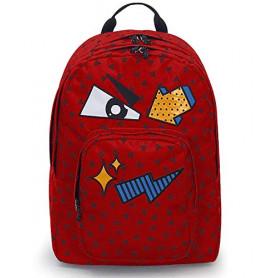 ZAINO INVICTA - DIAL PACK FACE - Fiesta Red Rosso - tasca porta pc