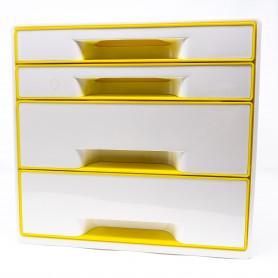 Zenick Cassettiera 4 cassetti LEITZ WOW CUBE giallo 28.7 x 27